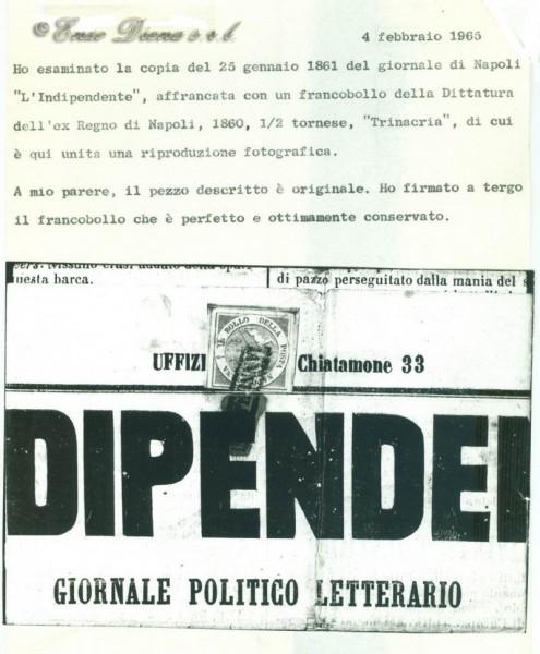 Trinacria giornale Alberto Diena