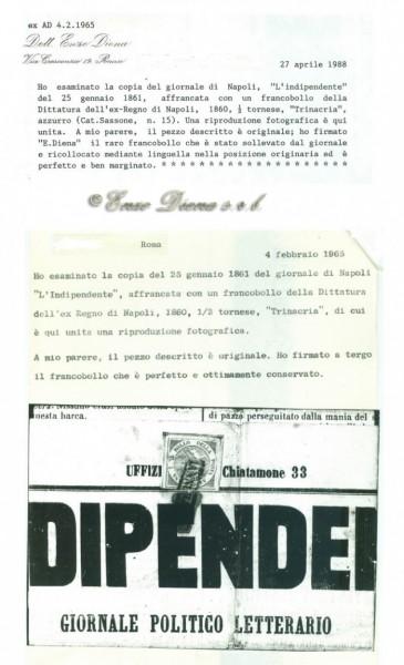 trinacria su giornale Enzo Diena