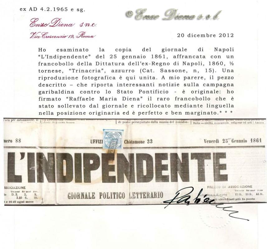 Trinacria su giornale Raffale Maria Diena